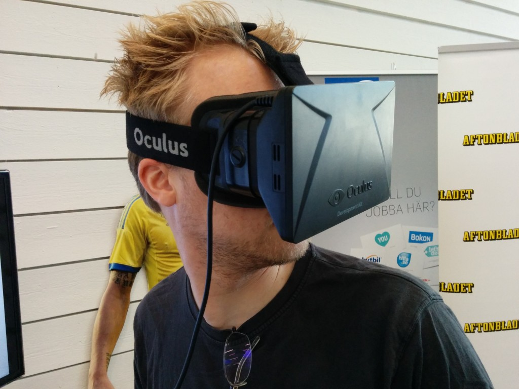 Alex gets a new view on things with the help of the Occulus rift.