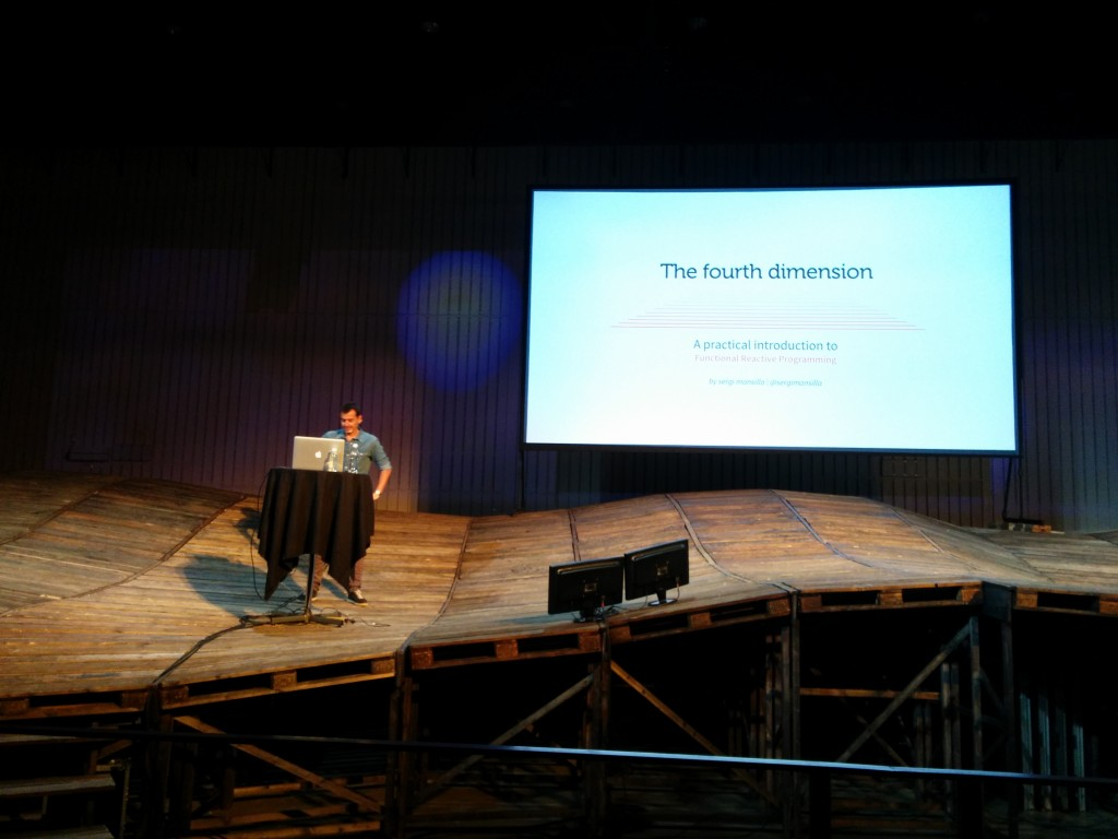 """The fourth dimension"" talk about reactive JS."